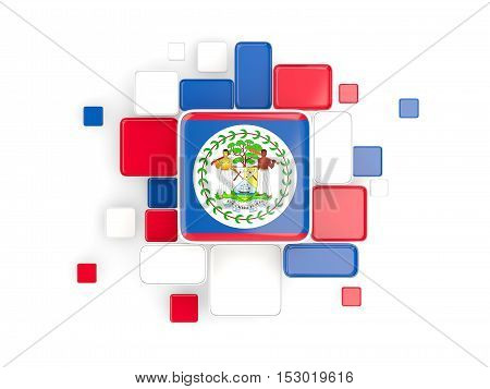 Flag Of Belize, Mosaic Background