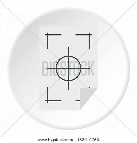 Test printed sheet icon. Flat illustration of test printed sheet vector icon for web