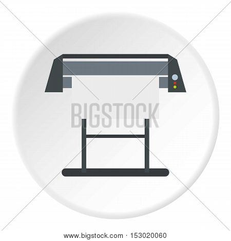 Platen for printing machines icon. Flat illustration of platen for printing machines vector icon for web