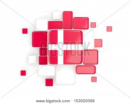Flag Of Denmark, Mosaic Background