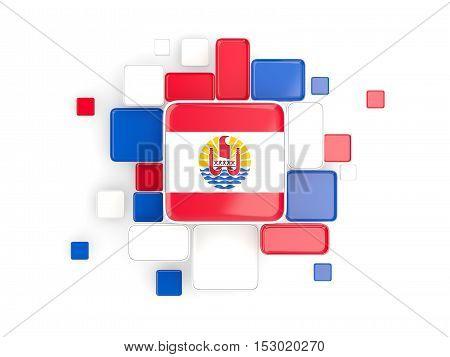 Flag Of French Polynesia, Mosaic Background