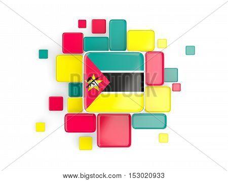 Flag Of Mozambique, Mosaic Background