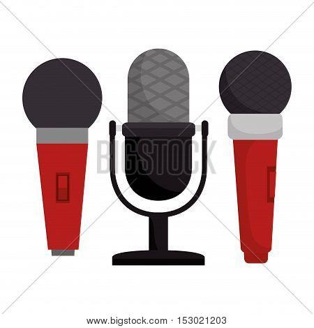 set microphone modern and vintage vector illustration eps 10