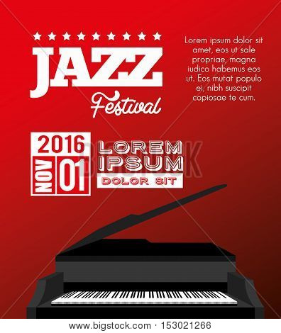festival jazz celebration music desing vector illustration