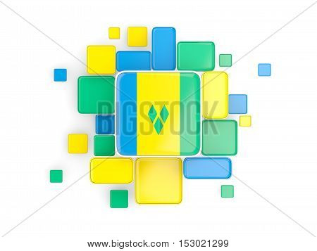 Flag Of Saint Vincent And The Grenadines, Mosaic Background