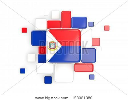 Flag Of Sint Maarten, Mosaic Background