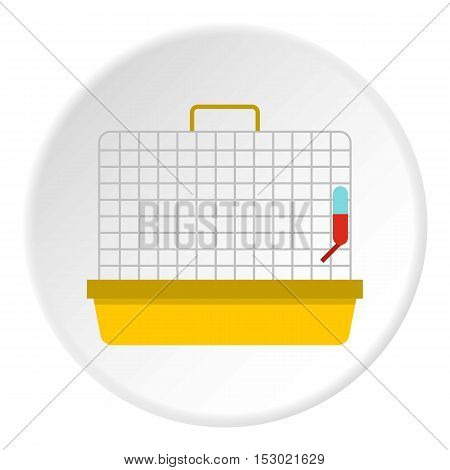 Cage for birds icon. Flat illustration of cage for birds vector icon for web