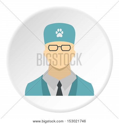 Veterinarian icon. Flat illustration of veterinarian vector icon for web