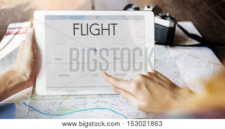 Online Flight Booking Interface Concept
