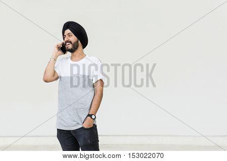 Indian Ethnicity Telecommunication Talking Data Concept
