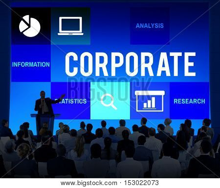 Discussion Corporate Presentation Strategy Concept