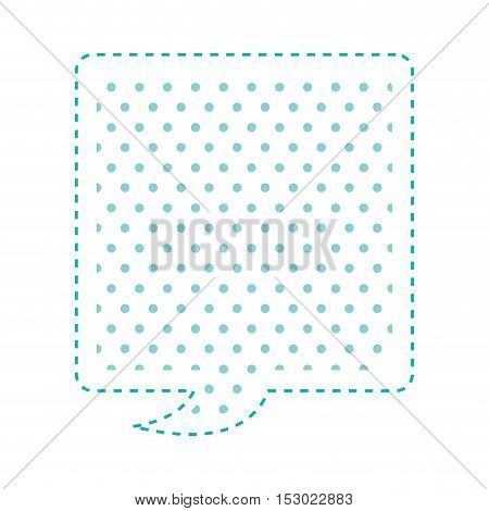 Dotted silhouette rectangle callout for dialogue vector illustration