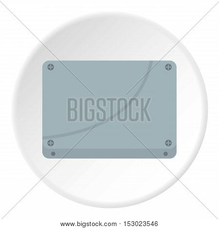 Case computer icon. Flat illustration of case computer vector icon for web