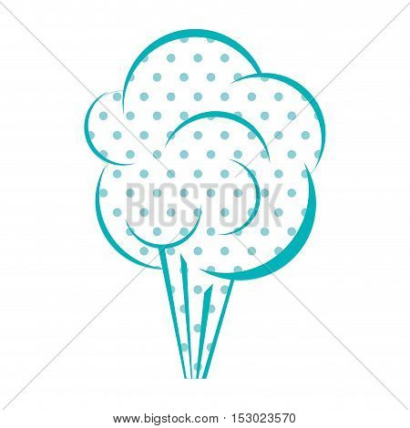 Dotted silhouette cloud explosive callout vector illustration