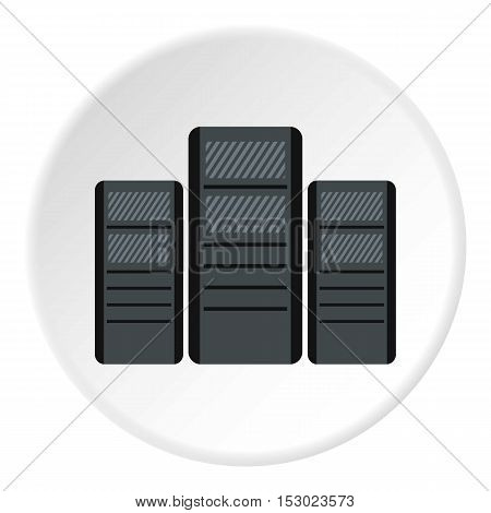System blocks of computers icon. Flat illustration of system blocks of computers vector icon for web