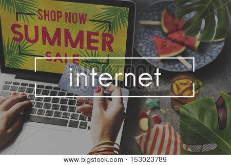 Internet Connection Digital Website Technology Concept