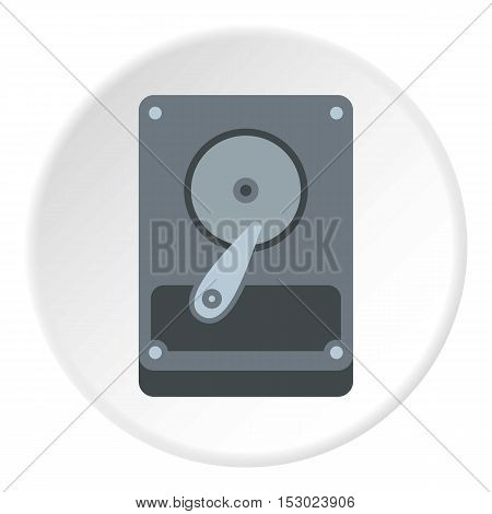 Hard drive data icon. Flat illustration of hard drive data vector icon for web