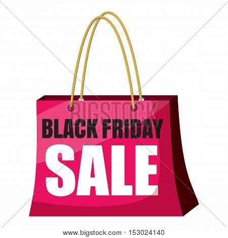 Package black friday sale icon. Cartoon illustration of package black friday sale vector icon for web