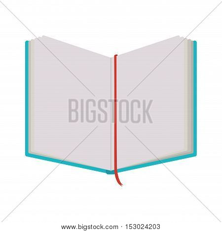 notebook open with tape separator vector illustration