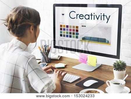 Creativity Inspiration Design Logo Concept