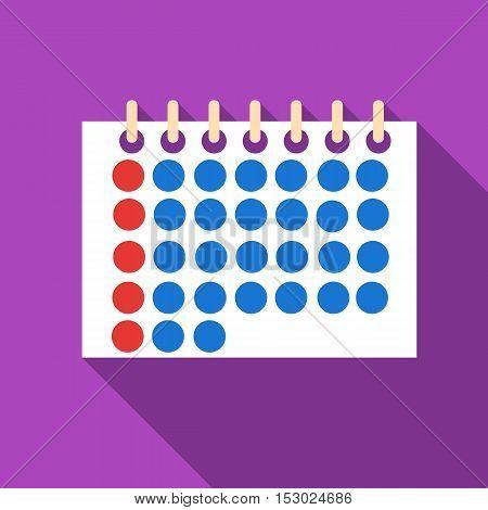 Calendar icon. Flat illustration of calendar vector icon for web