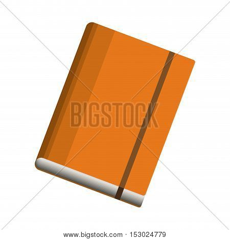 office diary with separator sheets vector illustration