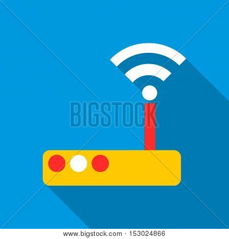 Modem icon. Flat illustration of modem vector icon for web
