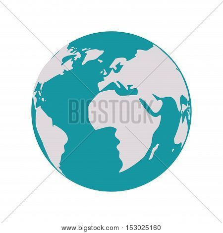 earth world map with continents vector illustration