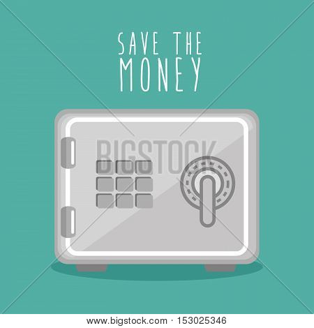 save the money box design icon vector illustration eps 10