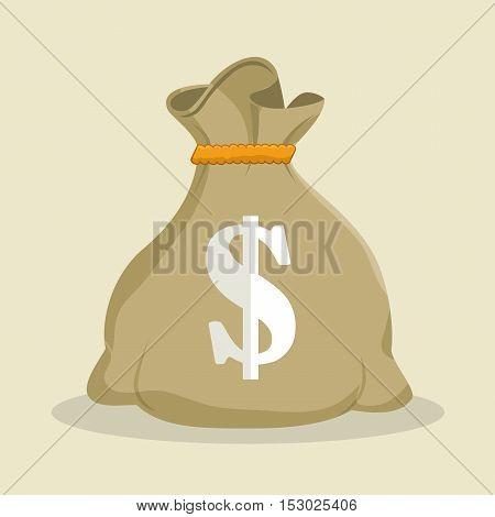 sack money dollar save icon vector illustration eps 10
