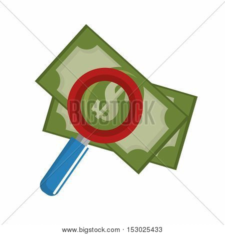 searching money save icon vector illustration eps 10