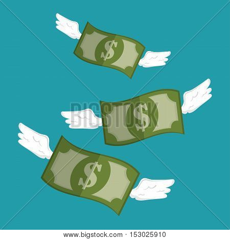 save the money bills with wings design vector illustration eps 10