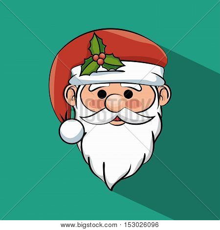 beautiful face santa claus icon graphic vector illustration eps 10