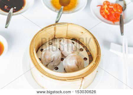 Steamed Scallop Har Gow Dumpling