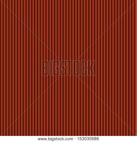 Pattern texture of crumpled paper in the volume of vertical lines for notes. Can be used for wallpaper, pattern fills, web page background, surface textures. Orange galousie.