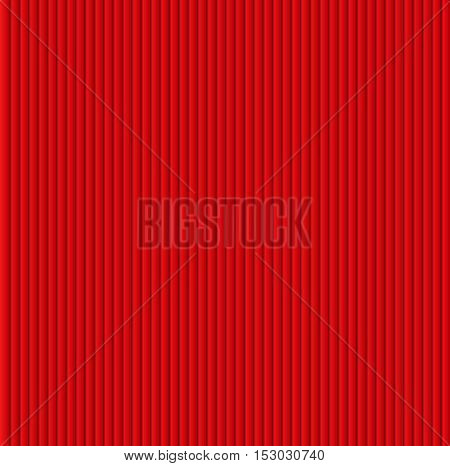 Pattern texture of crumpled paper in the volume of vertical lines for notes. Can be used for wallpaper, pattern fills, web page background, surface textures. Red galousie.