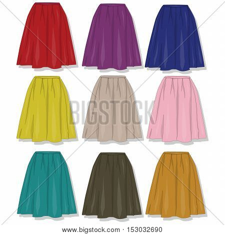 Skirt. Female Clothes Collection.