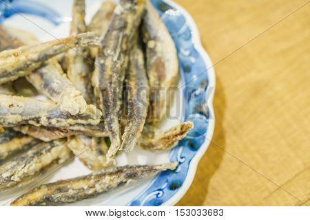 Fresh sardines fire