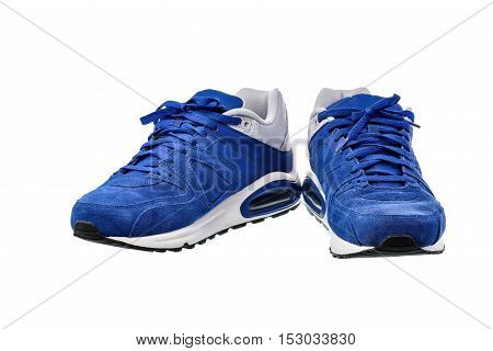 Sport shoes on white background with clipping path