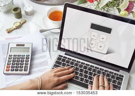 Calculator Accounting Investment Financial Graphic Concept