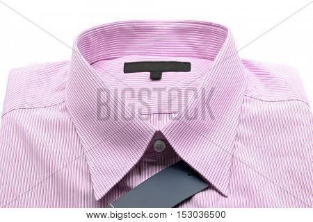 generic line pattern red business shirt with a blank label