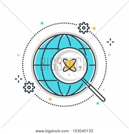 Color Line, Energy Research Concept Illustration, Icon