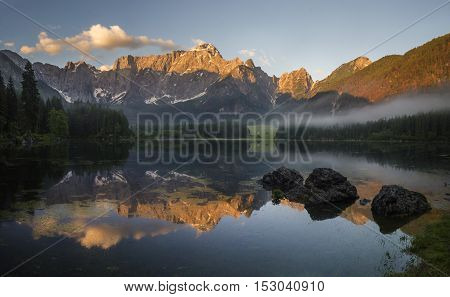 lake, mountain lake, Alps, Julian Alps, Slovenia, Mangart, tourism, high resolution, high-definition, panoramic, adventure, fishing, climbing, sport, trip, vacation