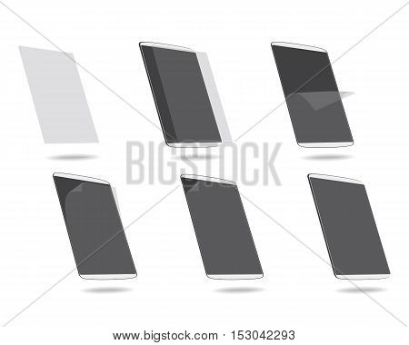 vector illustration steps apply screen protector tablet computer
