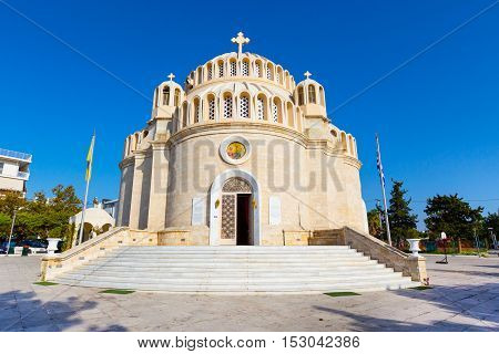 Church of St. Constantine and Helen in Glyfada, Athens, Greece.