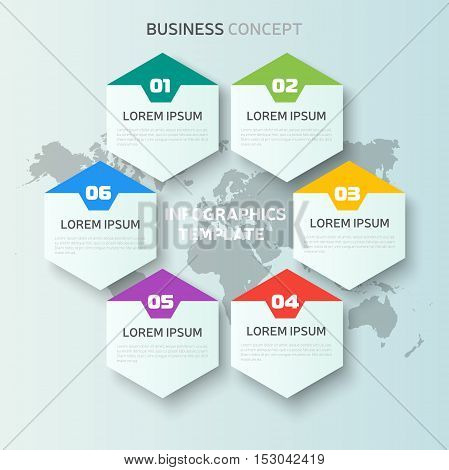 Vector Infographic elements, business concept template, web design