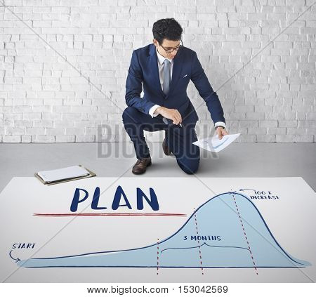 Plan Report Analytics Progress Strategy Concept