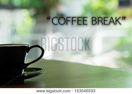 morning coffee and wording is