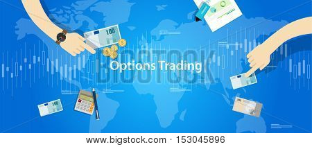 options trading illustration concept market analysis vector