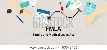 FMLA Family and Medical Leave Act vector employee
